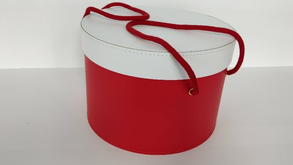 Manico in Corda Doppio colore Rosso con occhielli per trasporto orizzontale