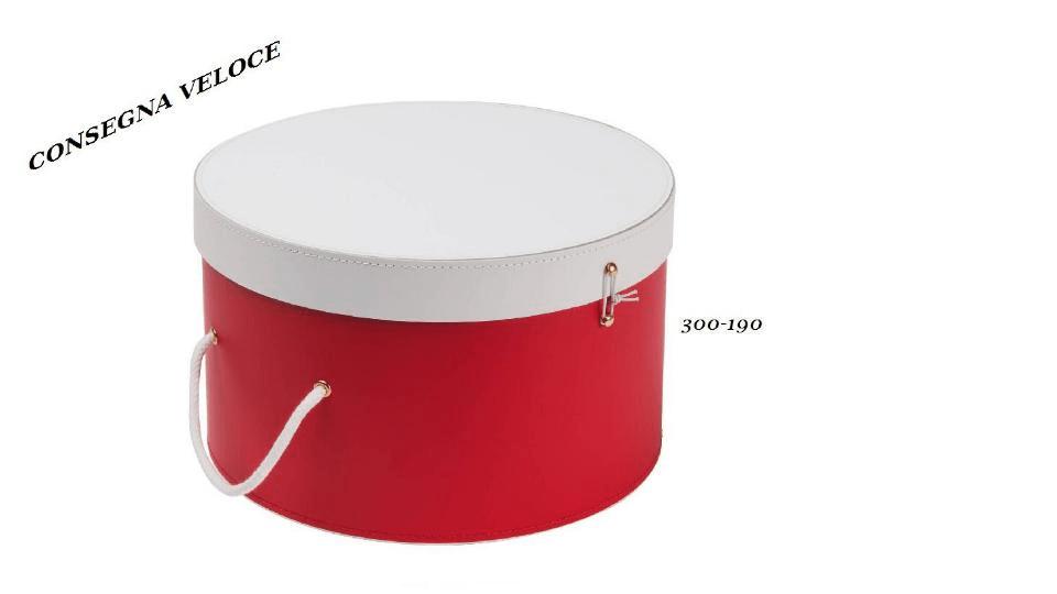 Scatole Cappelliere Natalizie colore Rosso e Bianco