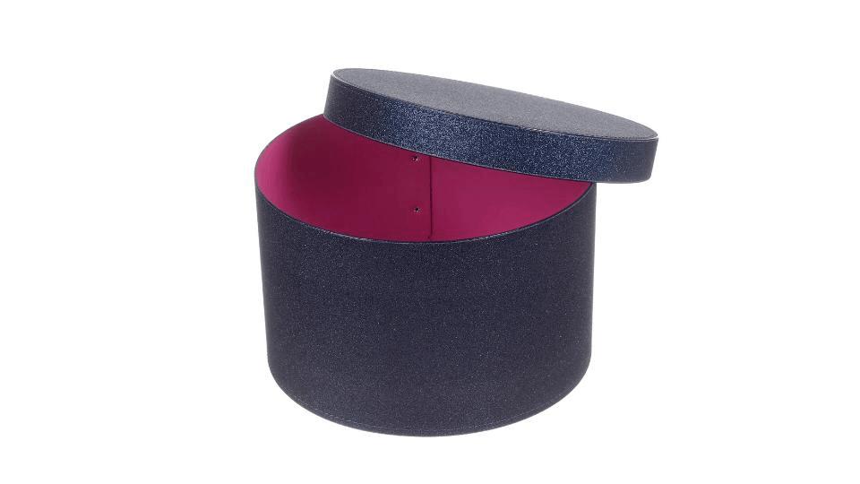 Scatola Cappelliera Glitter Blu