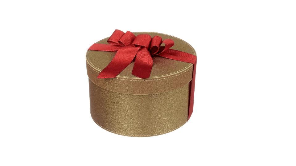 Scatola Cappelliera Glitter Oro