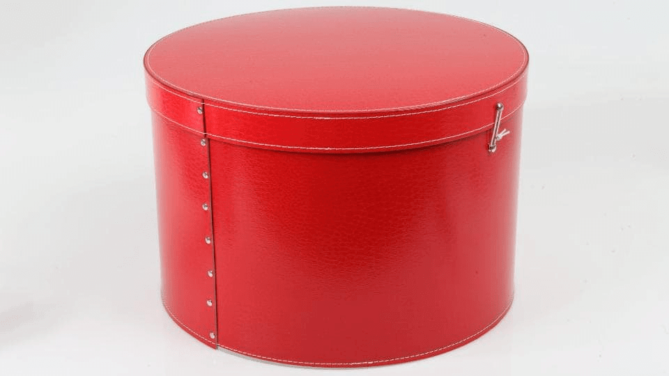 Scatola Cappelliera Tonda Rossa
