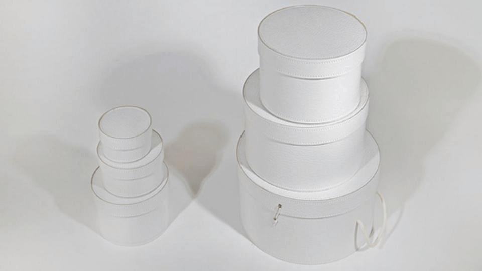 Set di 6 scatole impilabili di varie misure